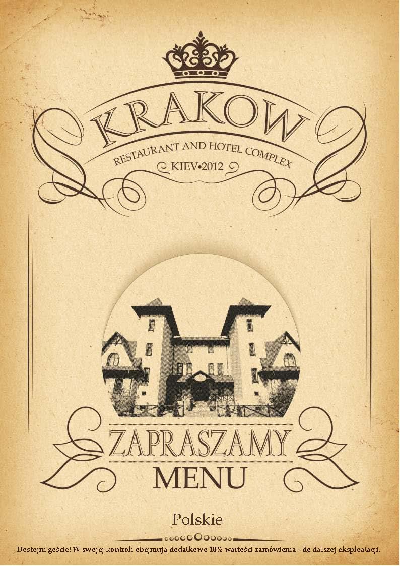 Menu restauracja Krakow